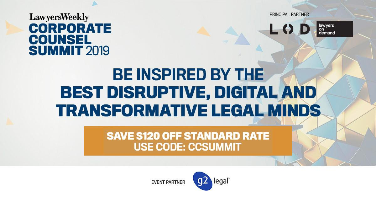 Lawyers Weekly Corporate Counsel Summit 2019
