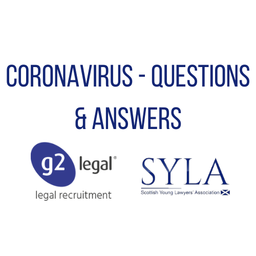 Coronavirus Q&A with G2 Legal's Scottish Team and The SYLA
