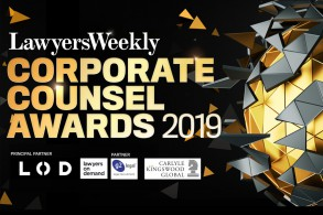 Lawyers Weekly Corporate Counsel Awards 2019