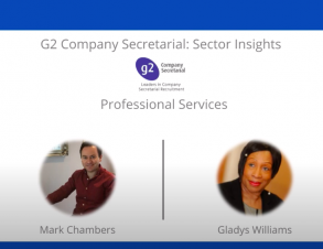 G2 Company Secretarial Sector Insights: Gladys Williams and Mark Chambers